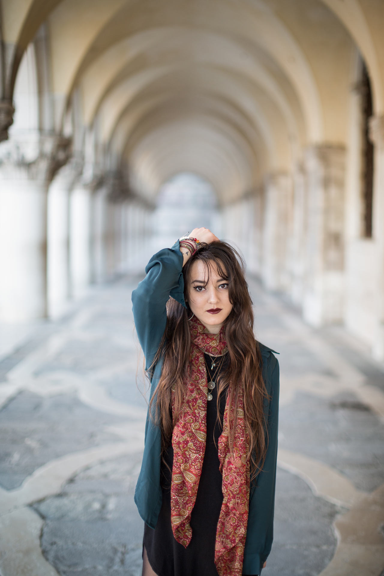 Meagan-portrait-photo-shooting-sunrise-palazzo-ducale-Venezia-Venice