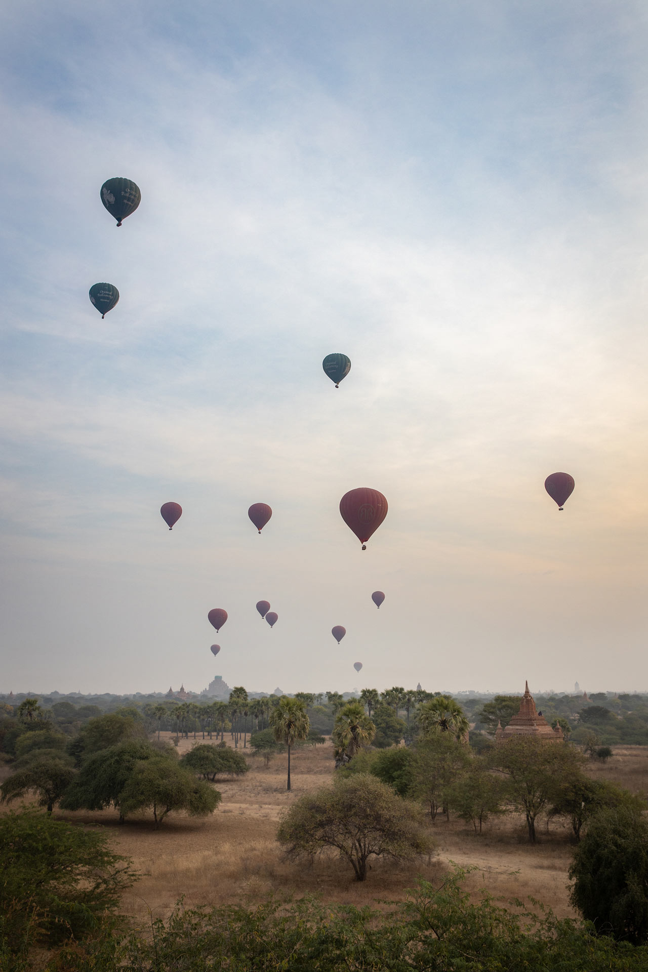 In beautiful Bagan, Looking for magic! Sunrise, pagodas and air balloons